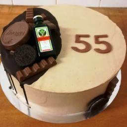 č.50 Kulatý s čokoládou a lahvinkou